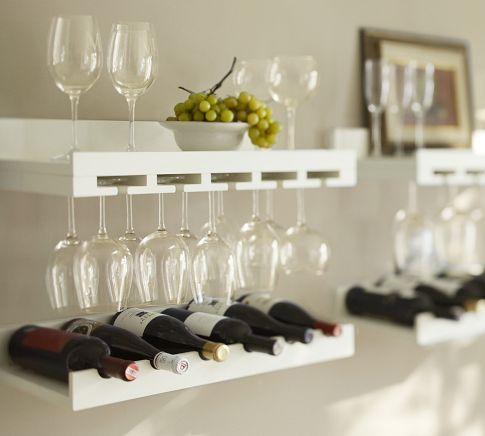 wine glass rack pottery barn. Holman Entertaining Shelves | Pottery Barn Wine Glass Rack