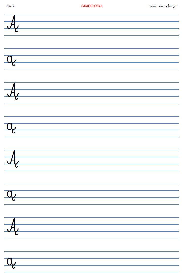 Blog Edukacyjny Dla Dzieci Literka A I E Kids Learning Activities Tracing Worksheets Preschool Preschool Worksheets