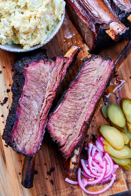 Tender Succulent Smoked Beef Short Ribs Texas Style Smoked Beef Short Ribs Smoked Beef Beef Short Ribs