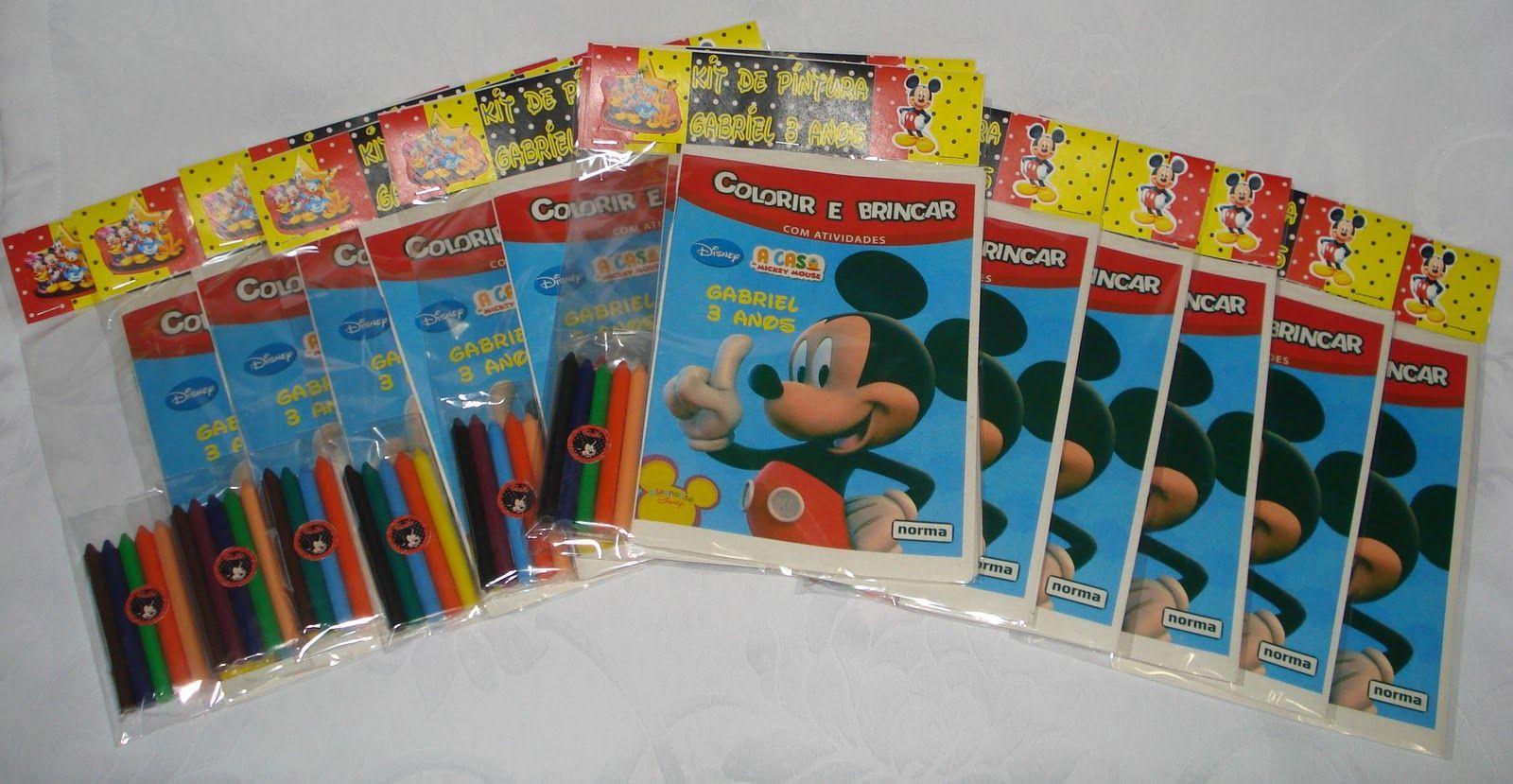 R$6,00/cada. Livrinho de Pintura Personalizado com 20 desenhos para colorir + 6 Gizões de Cera.