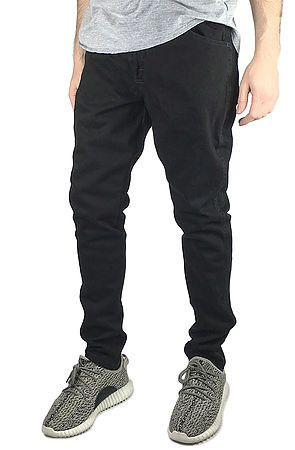 Black Custom Tapered Denim Jeans