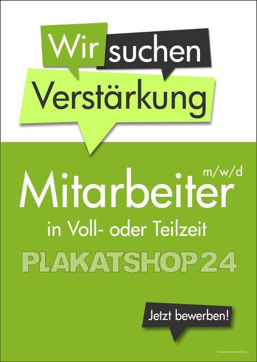 Poster Mitarbeiter In Voll Oder Teilzeit Gesucht Werbemittel Mitarbeiter Werbeplakat