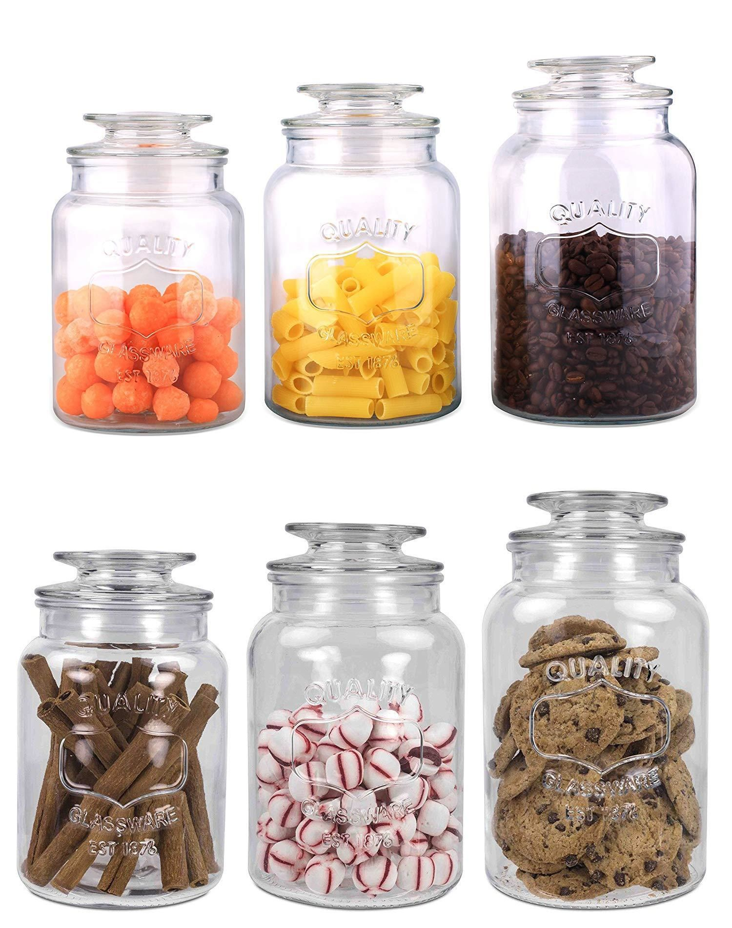 Canisters And Jars 20654 Home Basics New Clear Glass 3piece