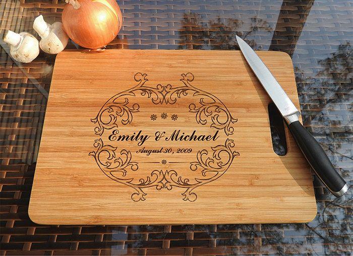 kikb481 Personalized Cutting Board Wood wedding gift anniversary date names wooden wedding