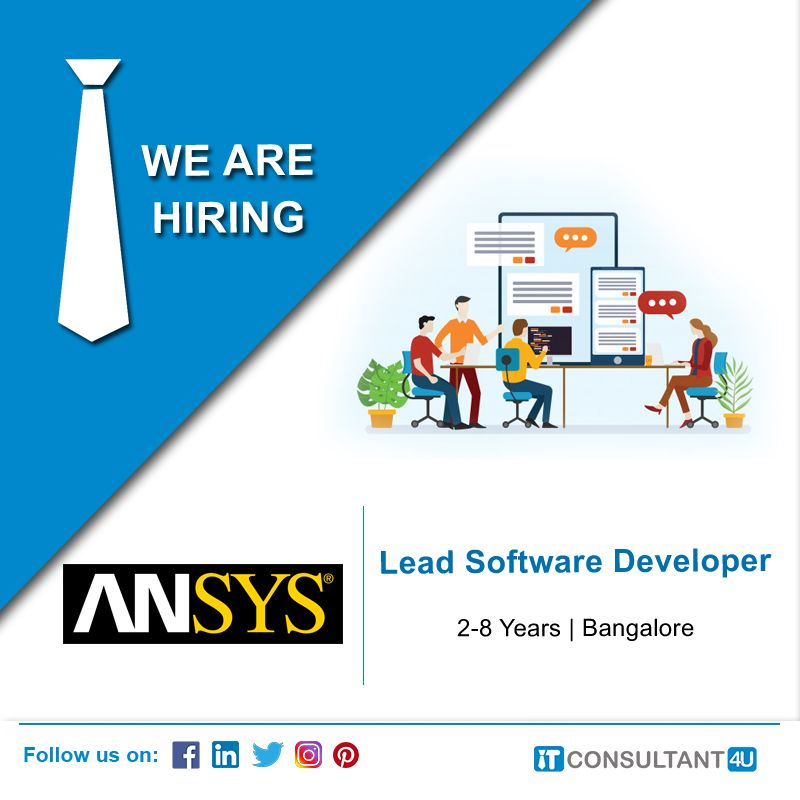 Ansys Is Hiring Lead Softwaredeveloper Itconsultant4u In 2020 Help Finding A Job Computer Science Degree Job Seeker