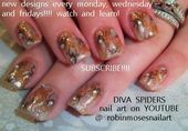 Photo of DIVA spiders with bling tutorial  Nail Art Gallery by NAILS Magazine
