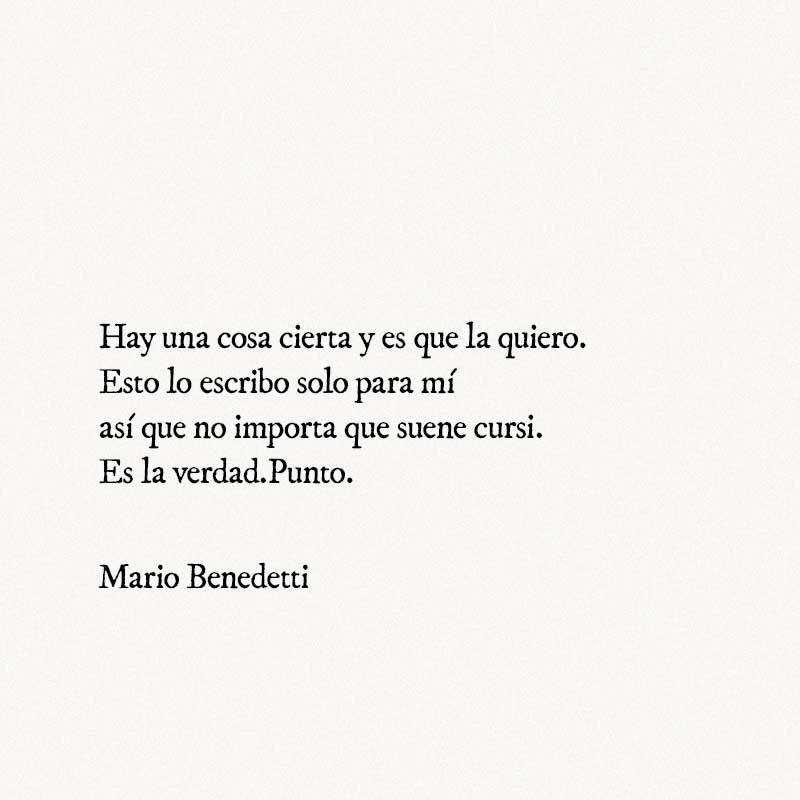Poesía: Mario Benedetti - Frases románticas #mariobenedetti #benedetti # frases #poesia #p… | Mario benedetti frases, Frases románticas, Frases  mario benedetti amor