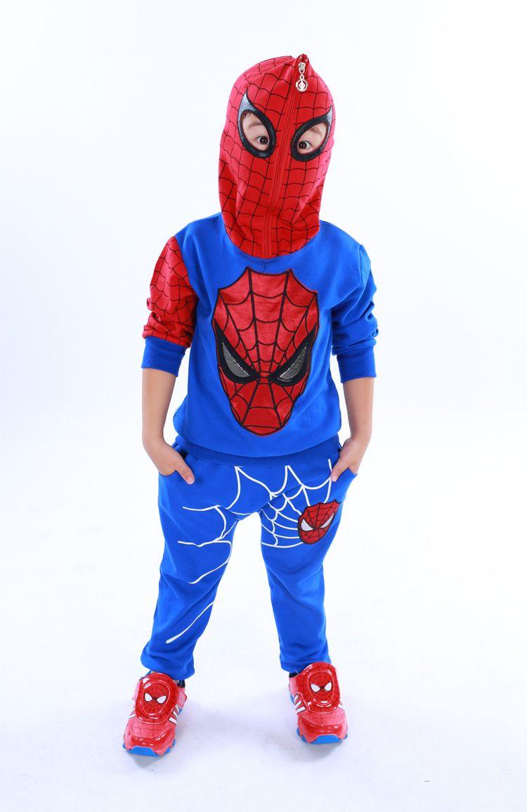 Los niños del hombre araña muchachos fijados ropa del bebé del muchacho del  hombre araña de los deportes trajes 3 7 años niños 2 unids arropan primavera  ... 44743e418c5fd