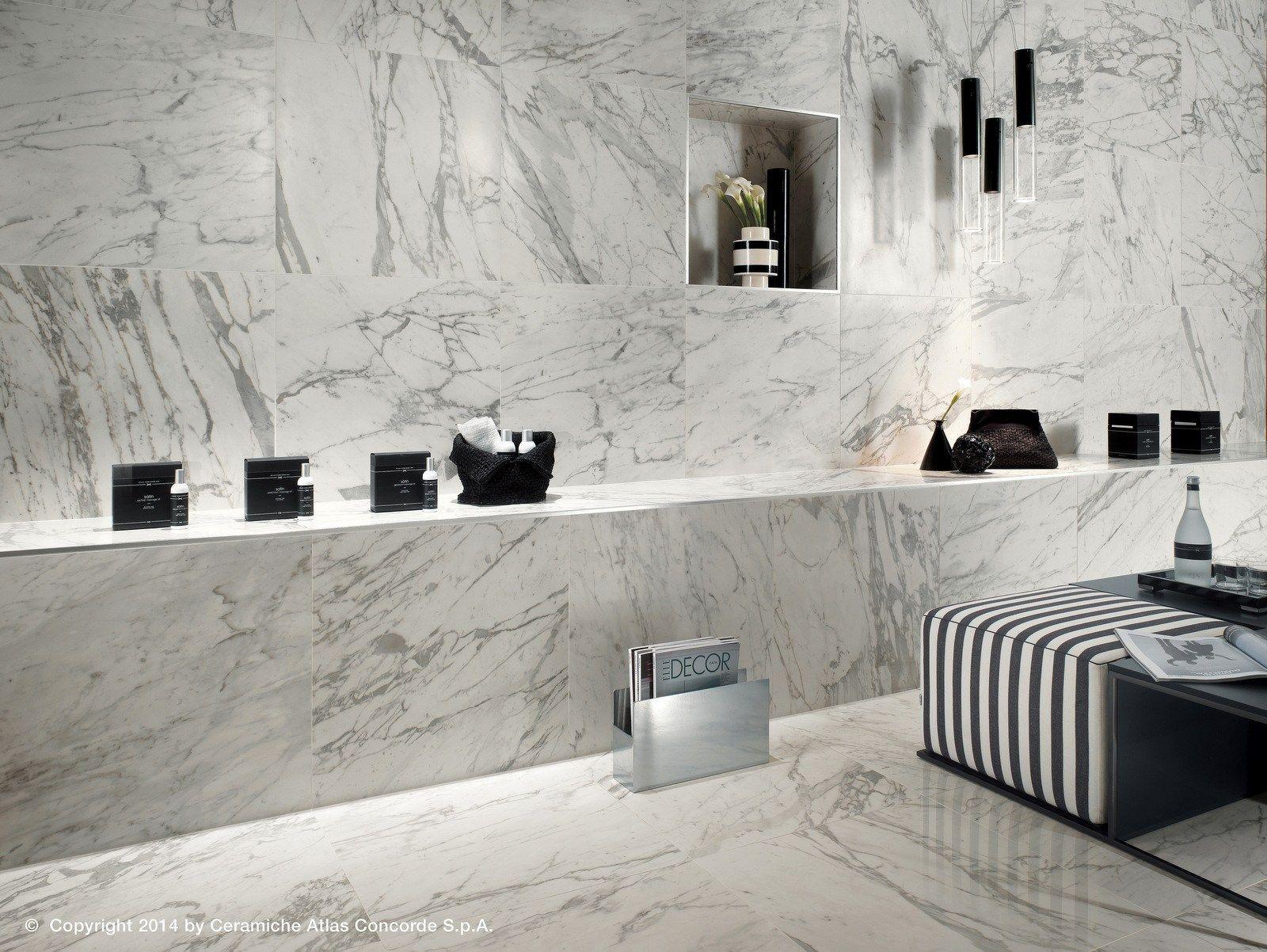 Credence Cuisine Marbre Blanc revêtement mural en céramique pâte blanche effet marbre pour