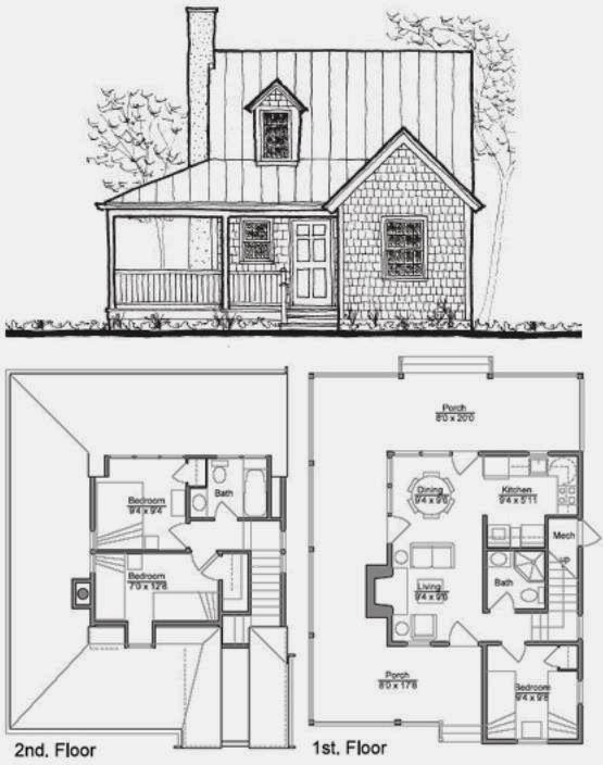 Resultado de imagen para planos fachadas de casas peque as for Planos de casas economicas