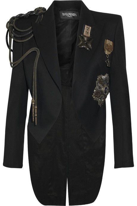 Balmain Embellished wool Napoleon blazer