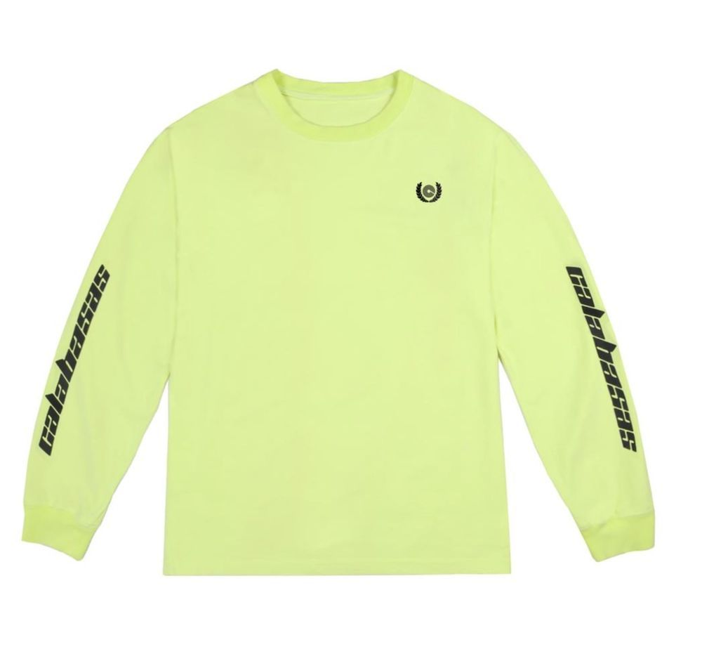 407619566b05c Adidas YEEZY Calabasas Long Sleeve T-Shirt Frozen Yellow  fashion  clothing   shoes  accessories  mensclothing  shirts (ebay link)