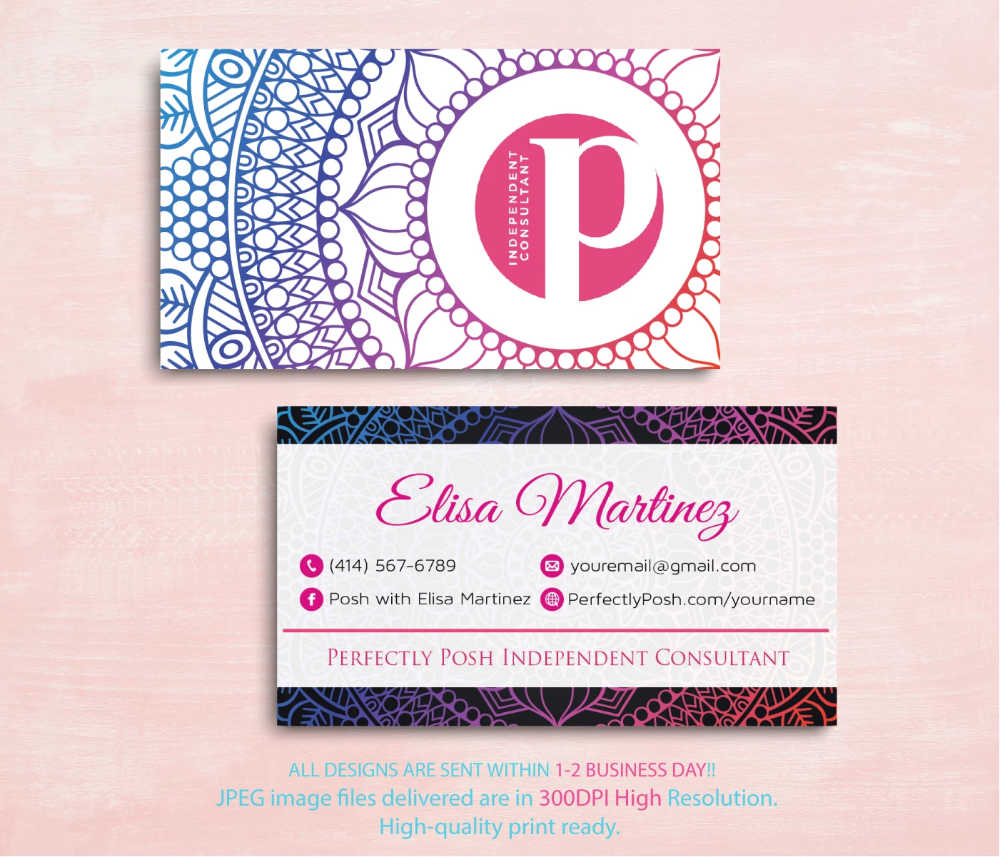 Perfectly Posh Business Cards Personalized Perfectly Posh Consultant Ps01 Perfectly Posh Perfectly Posh Business Perfectly Posh Consultant