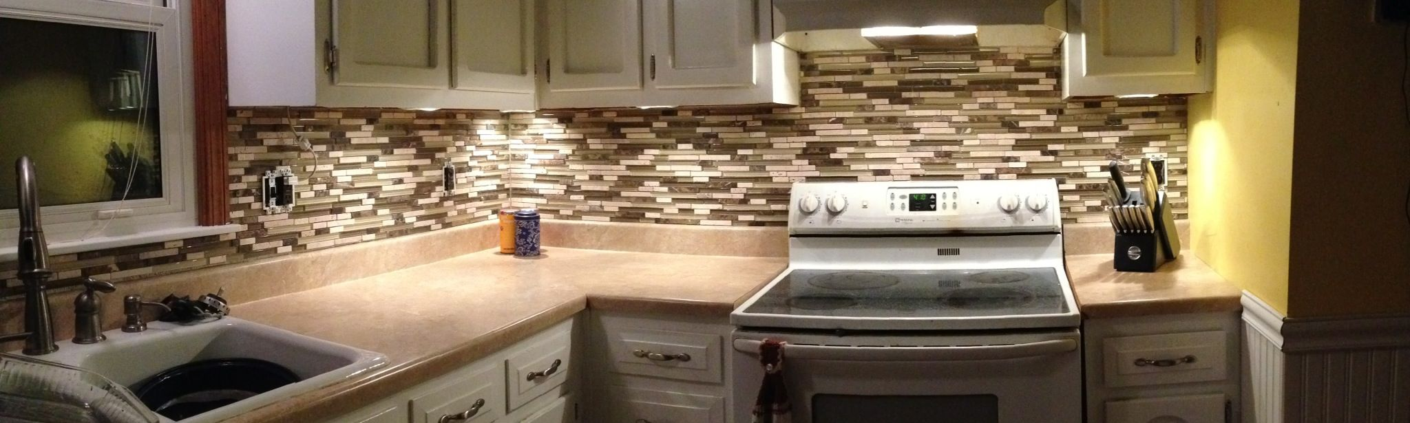 Mosaic Tile Backsplash From Costco Glass Mosaic Tiles Mosaic Glass Glass Tile