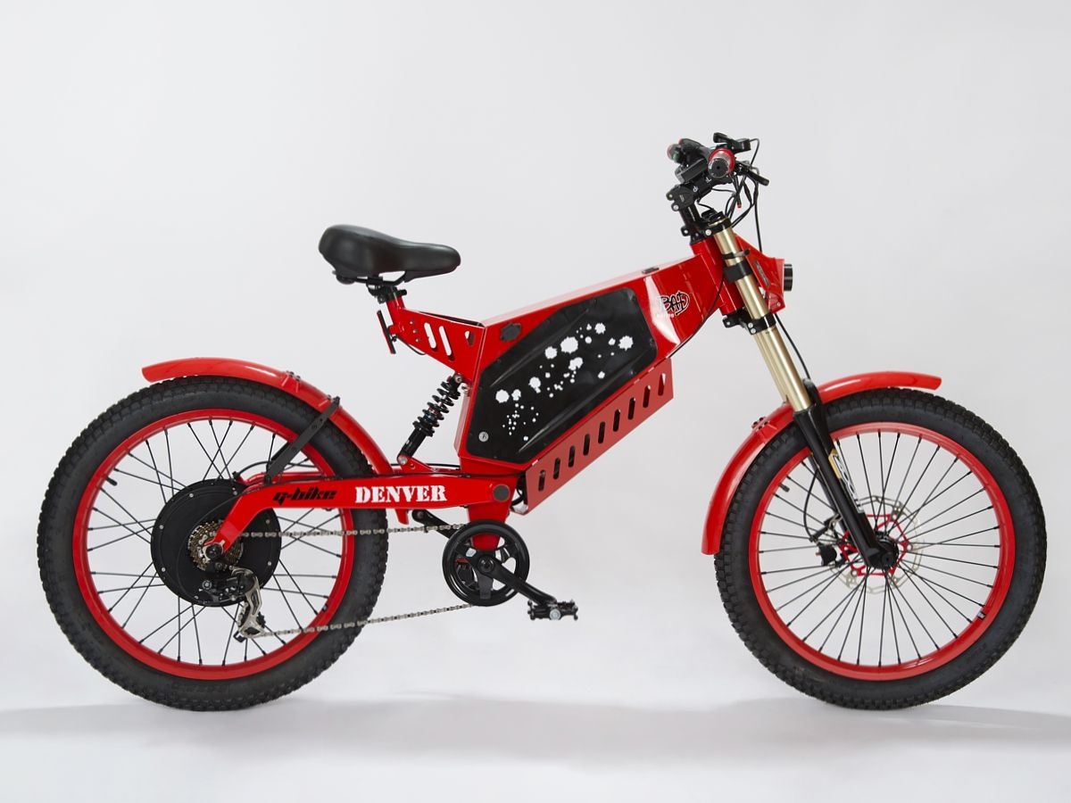 Rower Elektryczny G Bike Denver 60v 2000w Red Electric Bike Electric Bicycle Bicycle Bike