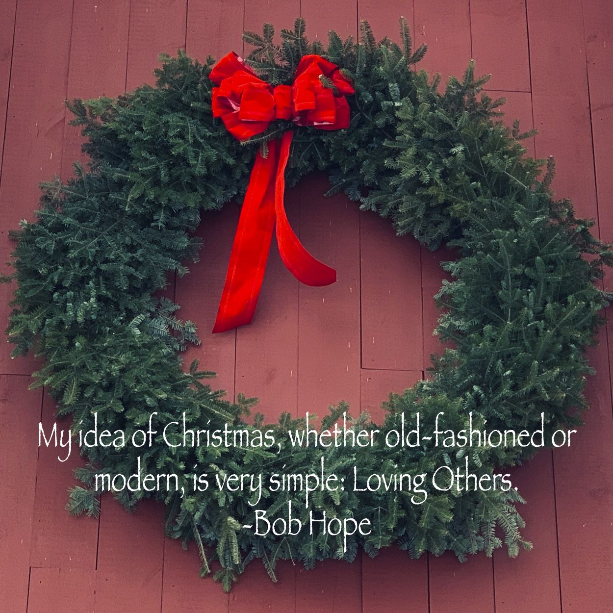 Christmas Hope Love Wreath Recovery Alcohlicsanonymous
