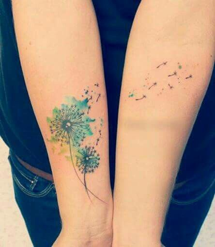 Watercolor Dandelion Dandelion Tattoo Color Tattoo