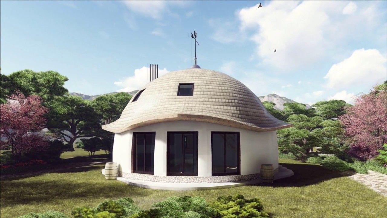 Купольный дом, диаметр 10м. Подмосковье. часть1 ...