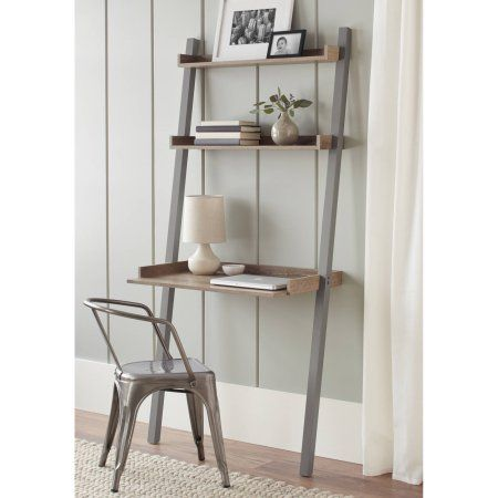 10 Spring Street Bedford Leaning Desk Multiple Colors Walmart Com Leaning Desk Furniture For Small Spaces Ladder Desk