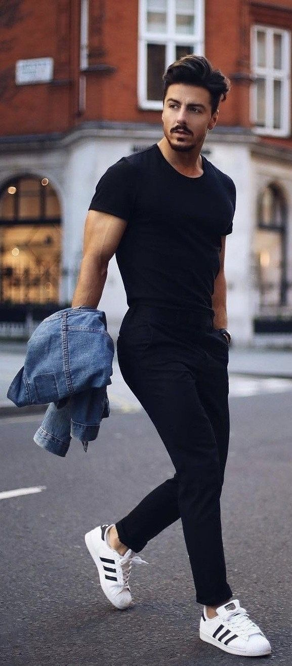 rowanrow with a summer outfit idea with a black t shirt