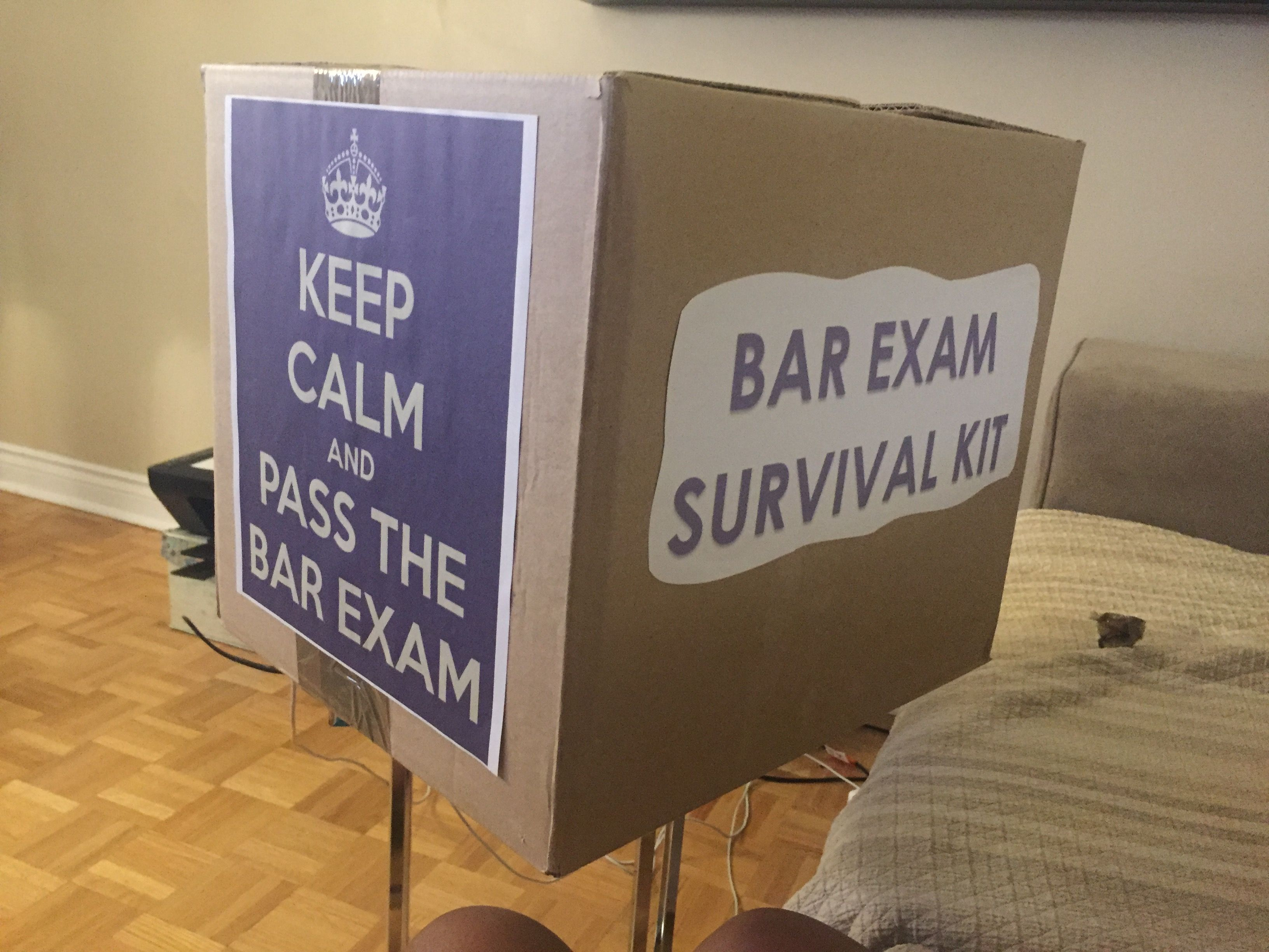 Bar exam survival kit law school grad party pinterest survival bar exam survival kit solutioingenieria Image collections