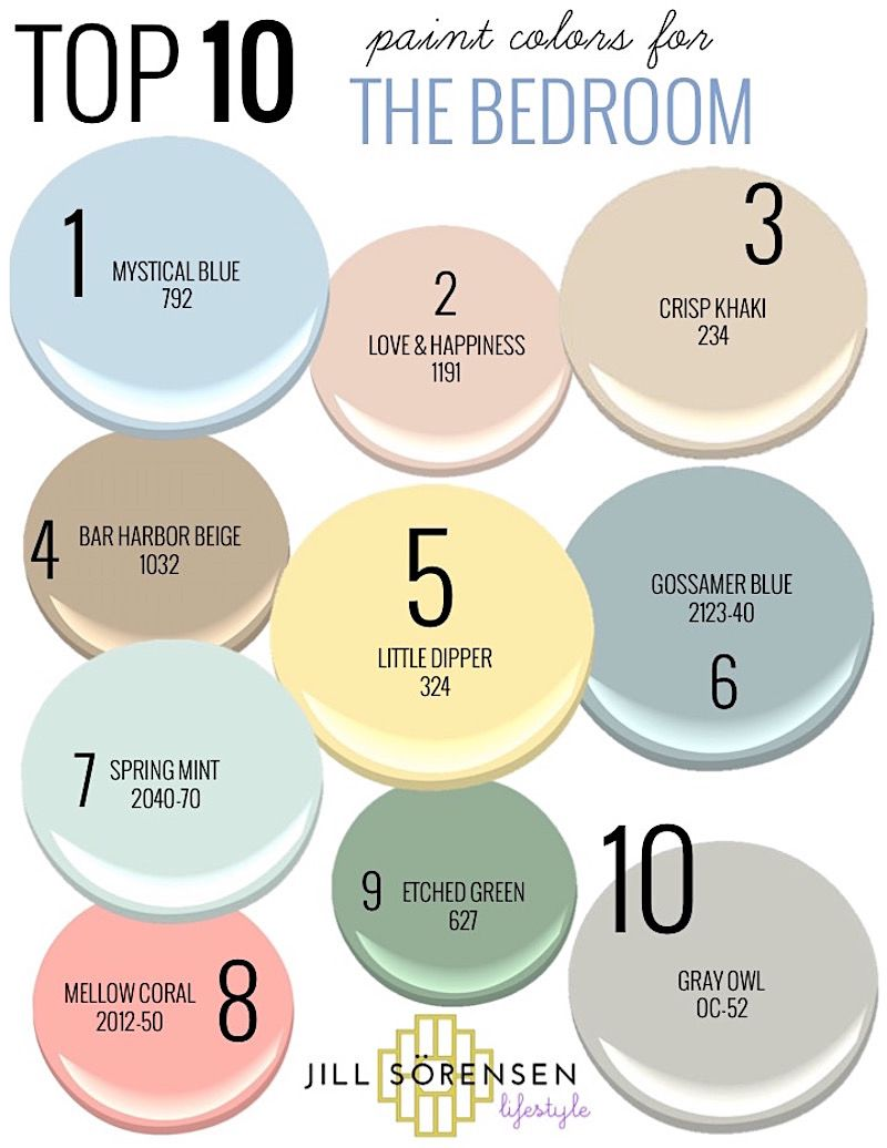 My Top 10 Paint Colors For The Bedroom That Will Help You Sleep Jill Sorensen