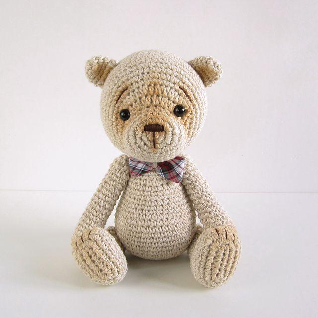 Classic amigurumi teddy bear pattern by Kristi Tullus | Moda crochet ...