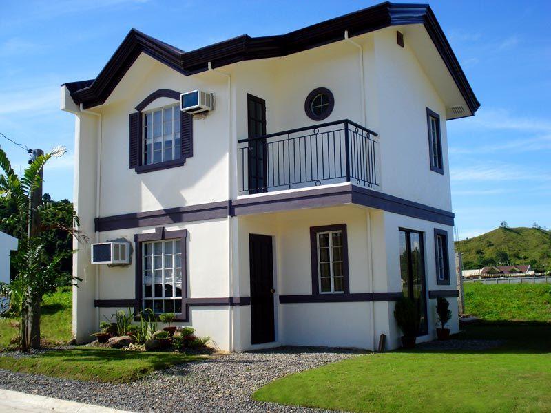 Modelo casa dos pisos colores blanco y 800 600 for Disenos de casas pequenas para construir