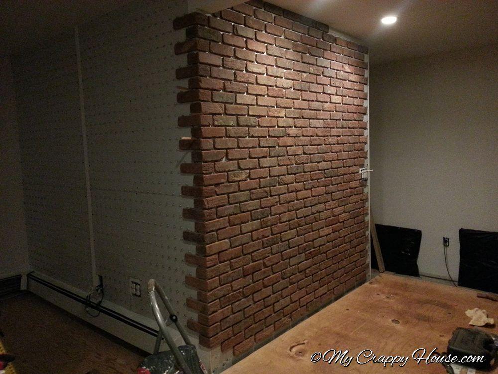 diy interior brick wall indoor spaces pinterest