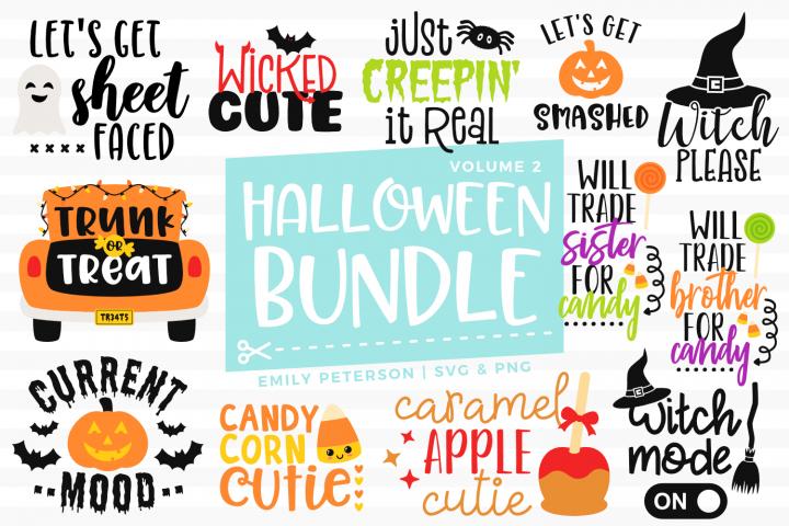Halloween Bundle 12 Designs Volume 2 Svg Dxf Eps Png With Images Halloween Bags Halloween Svg