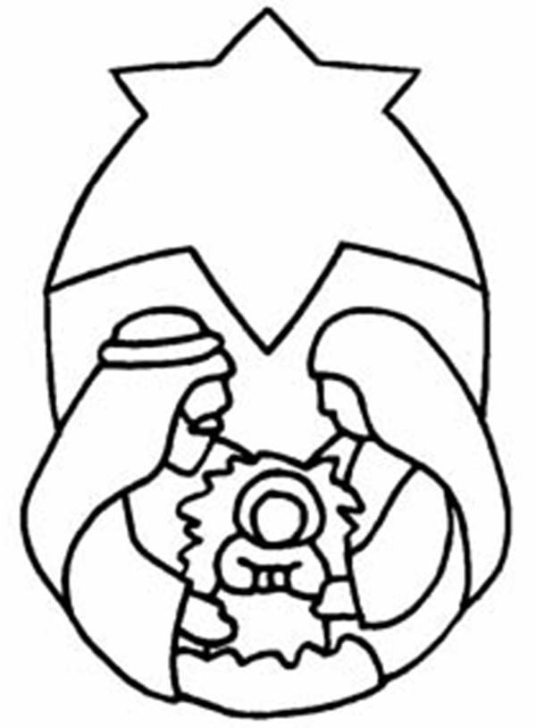 The Nativity Of Baby Jesus Coloring Page