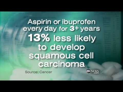 Aspirin Reduces Skin Cancer Risk? - WATCH THE VIDEO.    *** aspirin to prevent cancer ***   Common pain relievers could help prevent melanoma. Video credits to the YouTube channel owner