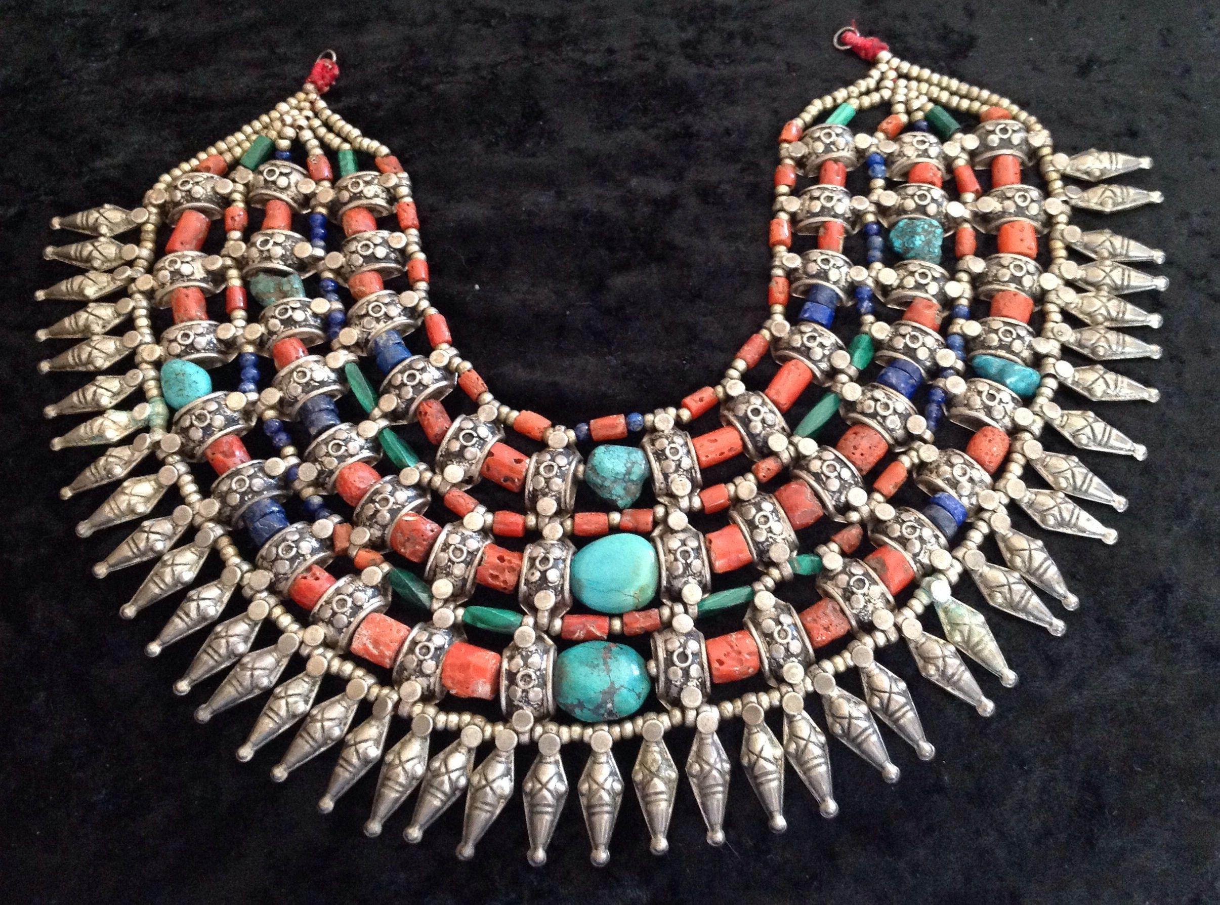 silver up of centerpiece berber close jewelry moroccan necklace