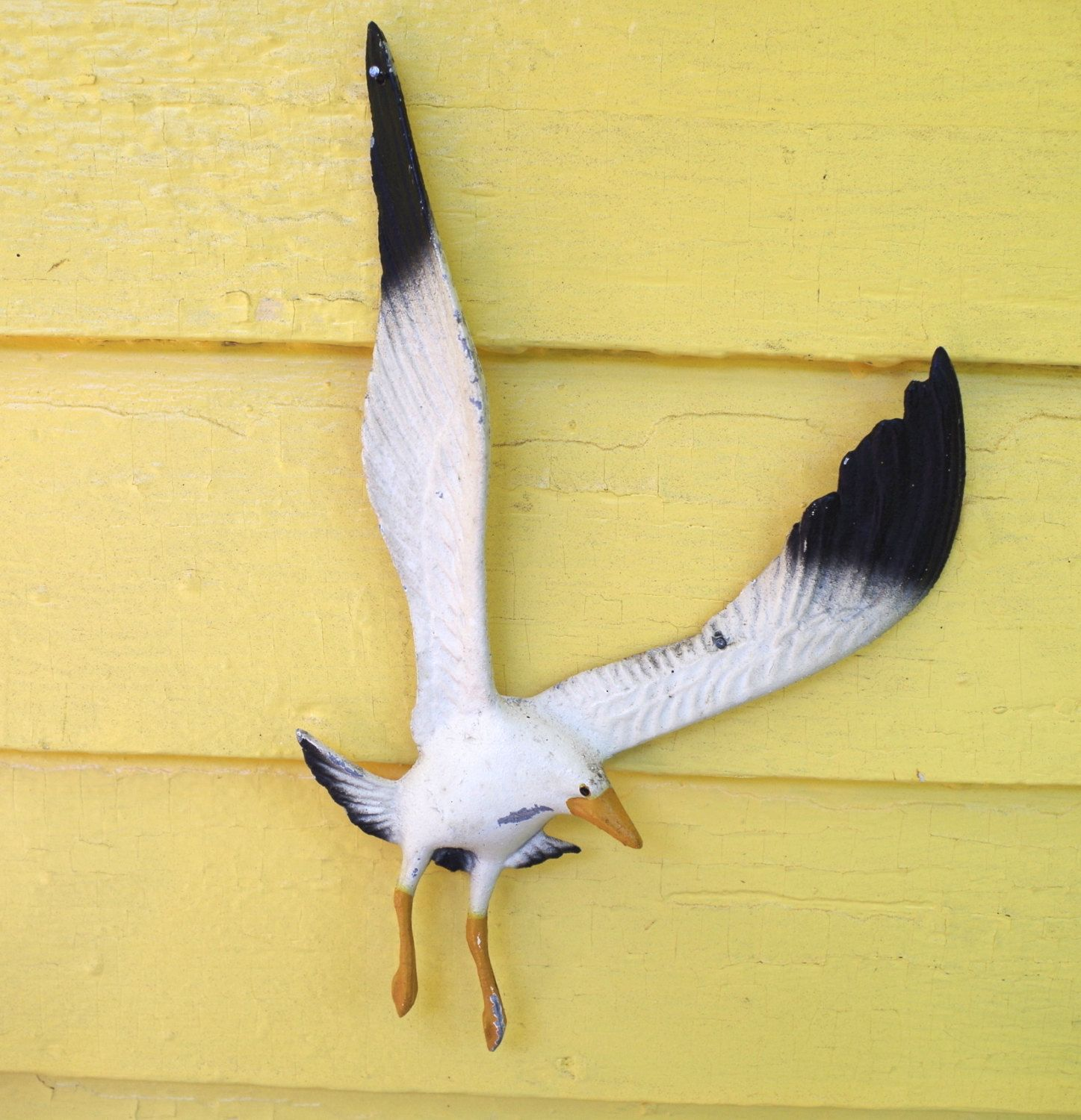 Vintage 1960s Metal Flying Seagull Bird Wall Decor Wings Spread ...