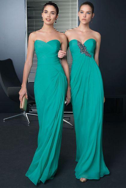 Vestidos de fiesta en color azul turquesa
