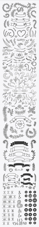 これも 手書き感が超かわいい無料のフレームラベル 飾り枠 飾り罫 Ai Svg 透過png 飾り罫 飾り枠 手書き