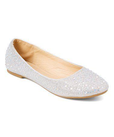4b560ac1b40 Loving this Silver Embellished Ballet Flat on  zulily!  zulilyfinds ...
