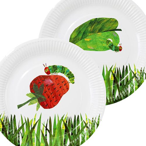 The Very Hungry Caterpillar Party Plates | Hungry caterpillar party ...