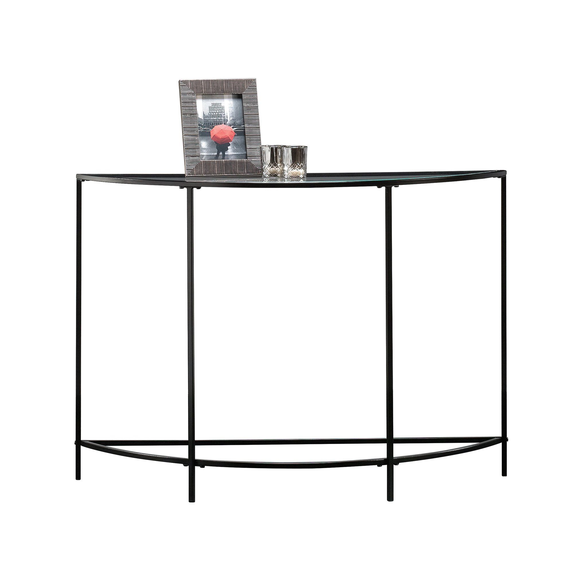 Sauder Soft Modern Sofa Table Black Clear Glass Check Out The Image By Visiting The Link This Is An Affiliate Modern Sofa Table Sofa Table Sofa Side Table [ 2048 x 2048 Pixel ]