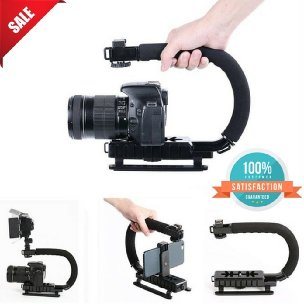 Dslr camera video stabilizer handle grip rig set for