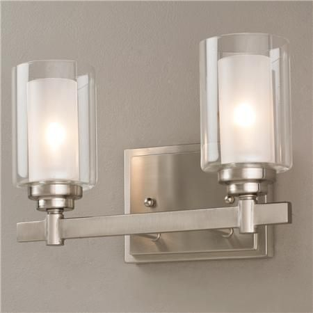Contemporary Cylinder Vanity Light - 2 Light | Home | Pinterest ...