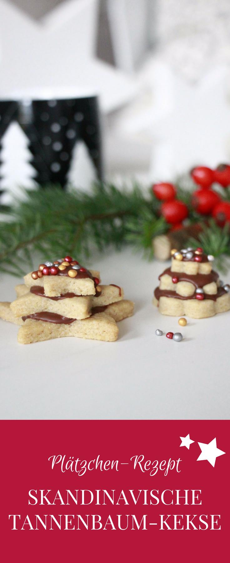 Besondere Weihnachtsplätzchen Rezepte.Skandinavische Kekse Tannenbaum Plätzchen Mit Schokolade Stille