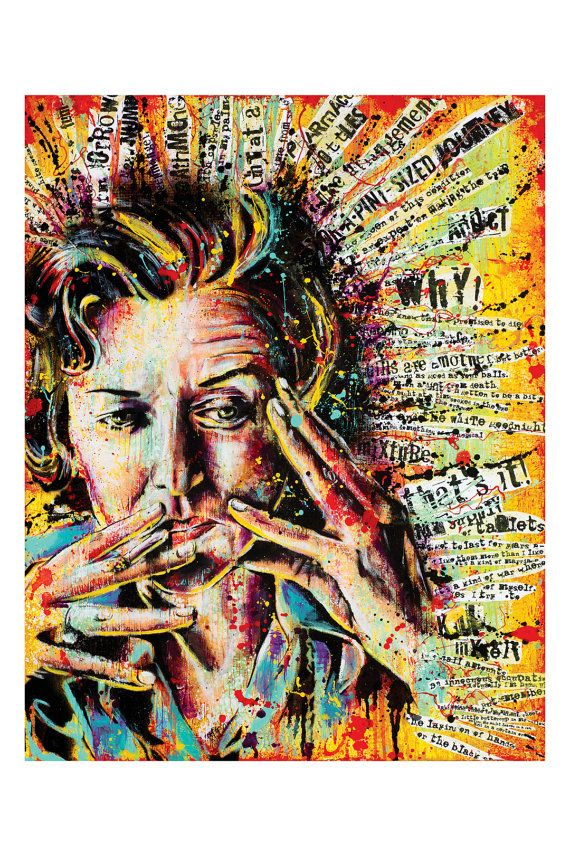 """Anne Sexton - """"Queen of This Condition"""" - 12 x 18 High Quality Pop Art Print"""