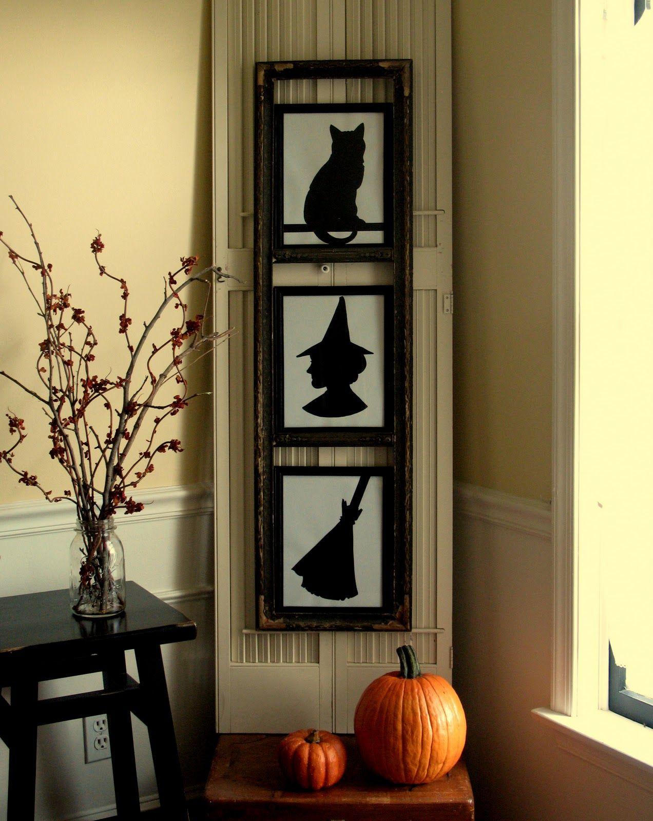 DIY Halloween silhouettes