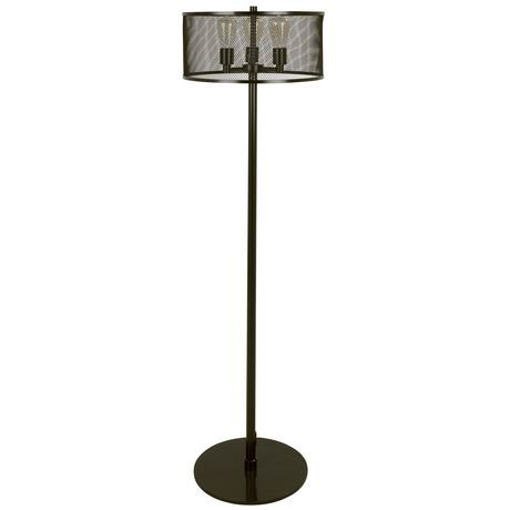 Indy Mesh Industrial Floor Lamp By Lumisource Brown Industrial