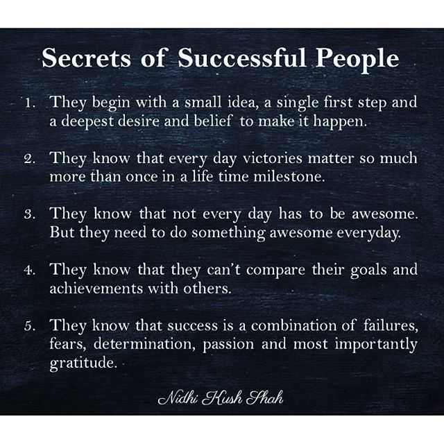 Secrets Of Successful People Inspirational Quotes Motivation