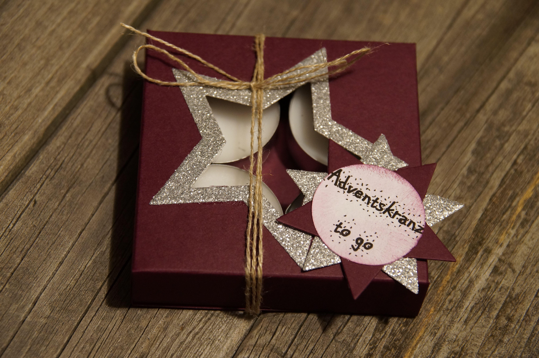 Adventskranz to go Erstellt mit Material von Stampin´ Up #Stampin #Up #Basteln #Anleitung #Adventskranz #Weihnachten #Teelicht