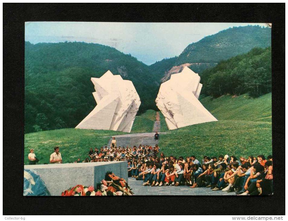 VINTAGE YOGOSLAVIA BEOGRAD MONUMENT OF THE BATTLE POSTCARD 3 STAMP RARE - Yugoslavia