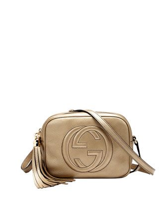0f43ee21 Soho Metallic Leather Disco Bag, Gold by Gucci at Neiman Marcus ...