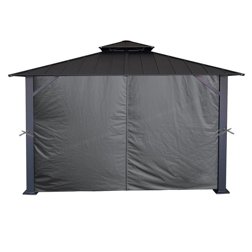 Yardistry 12 Ft X 12 Ft Retractable Sunshade Yp11689x The Home Depot In 2020 Gazebo Privacy Curtains Gazebo Privacy